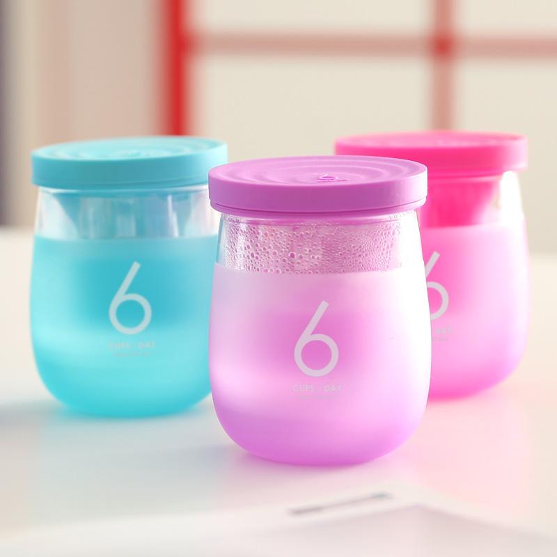 花色优品6杯水办公感温杯(小)STB-0511