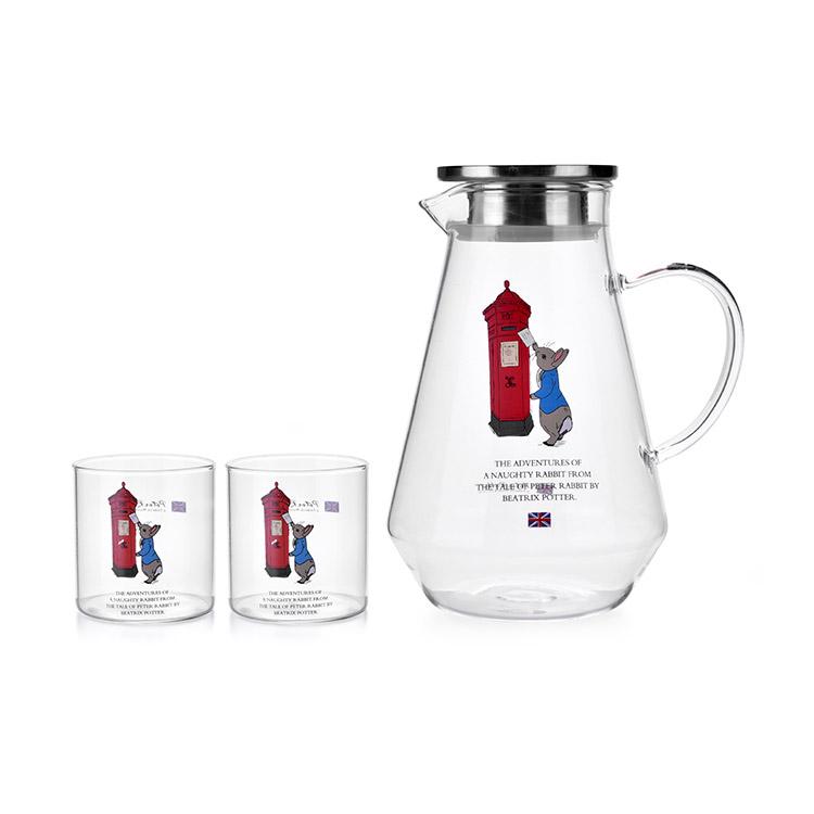 比得兔经典耐热玻璃冷水壶套装PR-T906