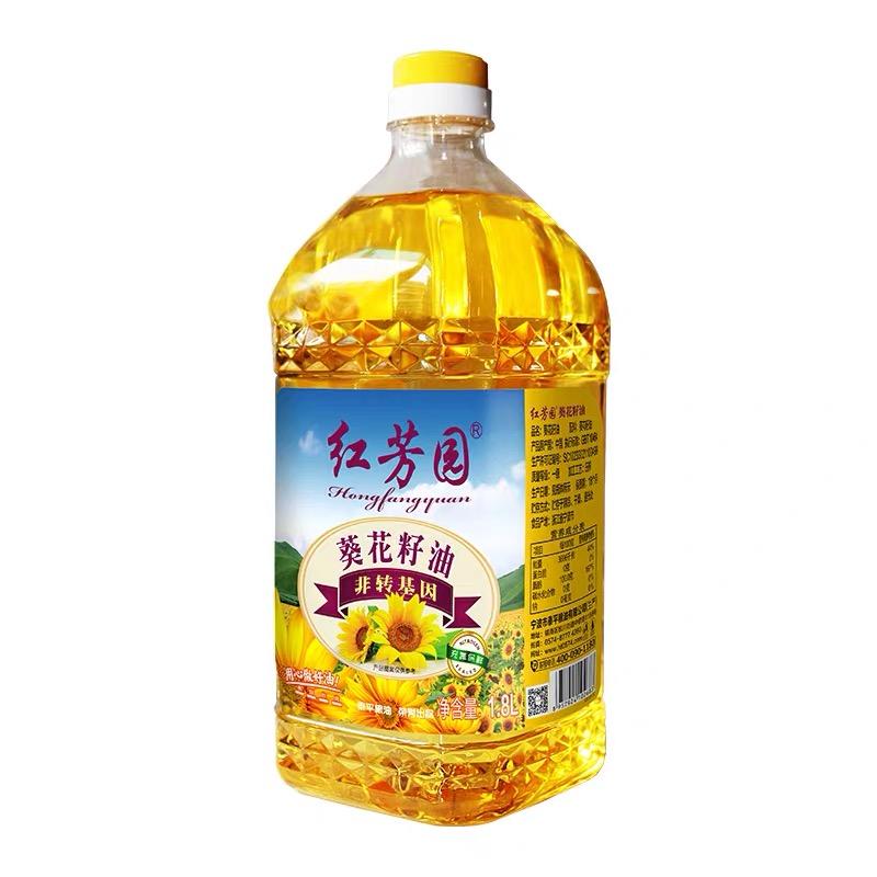 紅芳園非轉基因葵花籽油 凈含量:1.8L