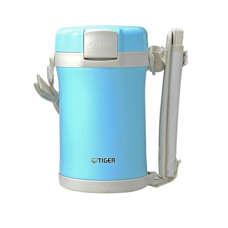 tiger虎牌不锈钢便当盒LWU-C20C保温桶保温饭盒 蓝色
