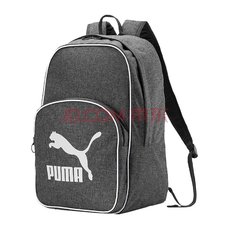 彪马(PUMA) 男女 双肩包 背包 休闲包 学生书包 ORIGINALS 运动包 076652 02灰色中号,彪马(PUMA)