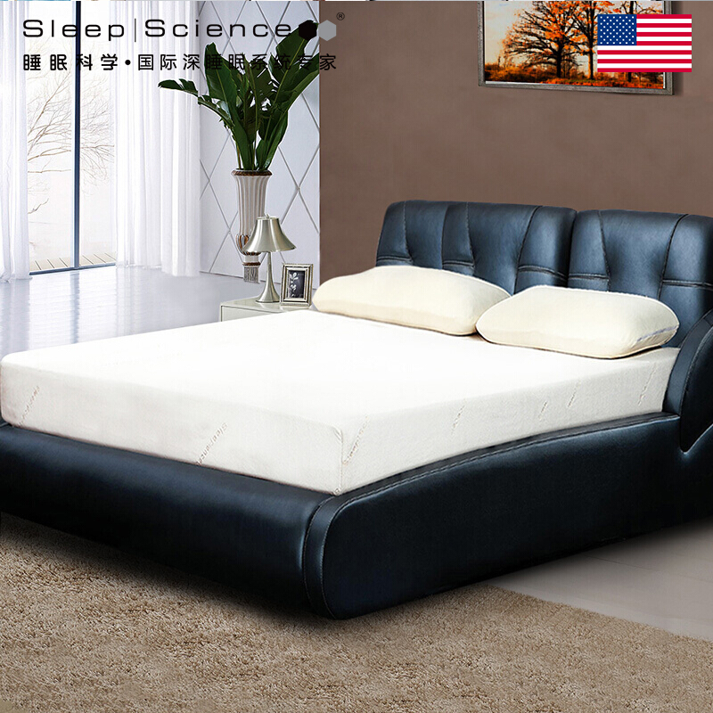 Sleep Science 美國睡眠科學鳳凰黑寶石高密度優質記憶棉床墊厚雙人床墊軟硬適中承托深睡美國質量標準