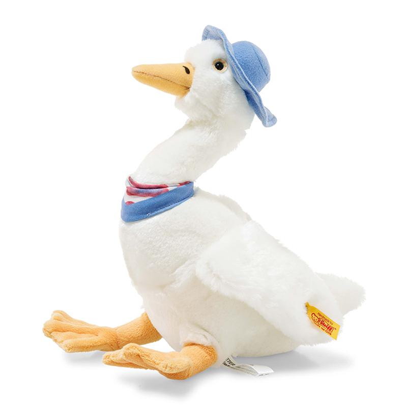德国Steiff毛绒玩具Jemima玩具鸭子白色 27cm 4001505355271