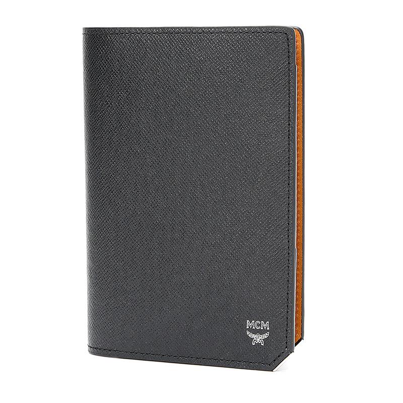 MCM女款黑色人造革护照证件夹 MXV8ALL50BK001