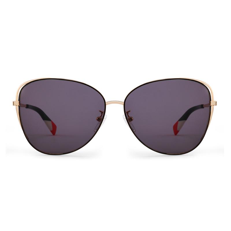 FURLA芙拉多色金属框圆角三角形女士个性墨镜太阳眼镜SFU269K