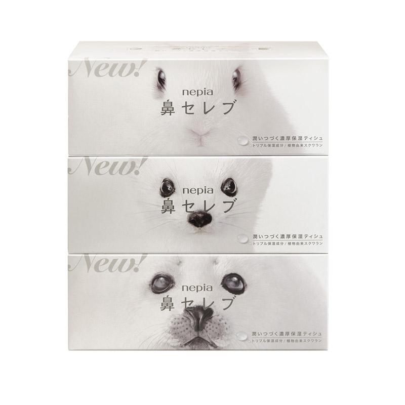 Nepia/妮飄 日本妮飄鼻貴族盒裝面紙1提200抽×3盒(雙層)