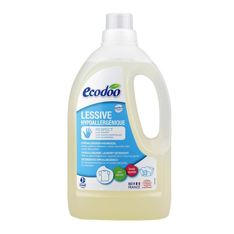 逸乐舒ecodoo进口洗衣液 无荧光剂 婴幼儿童洗衣液 无香有机洗涤剂温和不刺激1.5L