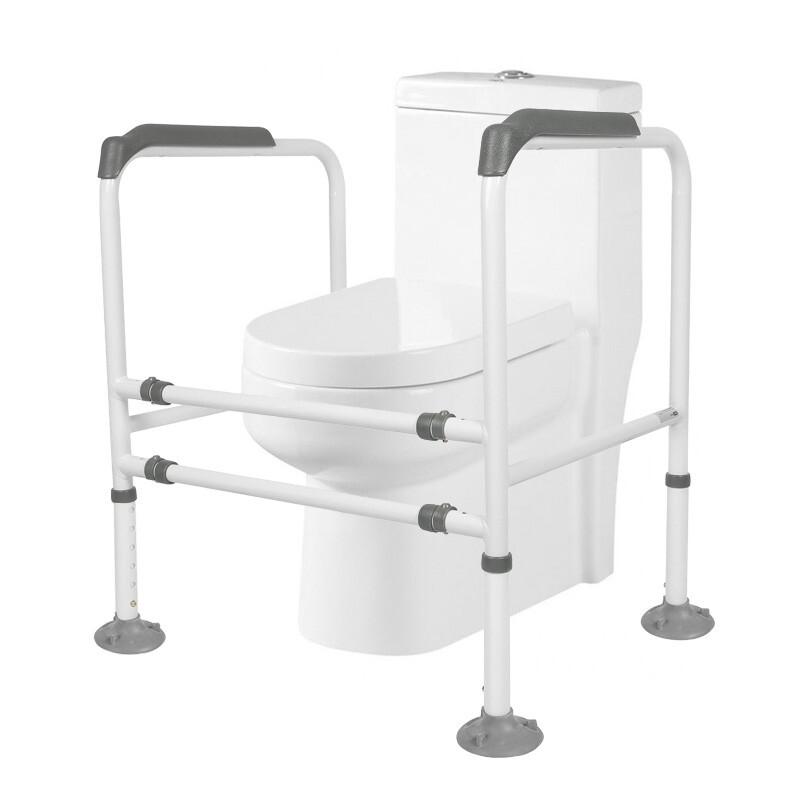 好步(HEPO)老人廁所馬桶吸盤扶手殘疾人移動馬桶圍架衛生間助力架護理用品坐便椅浴室扶手LQX-050010(灰)