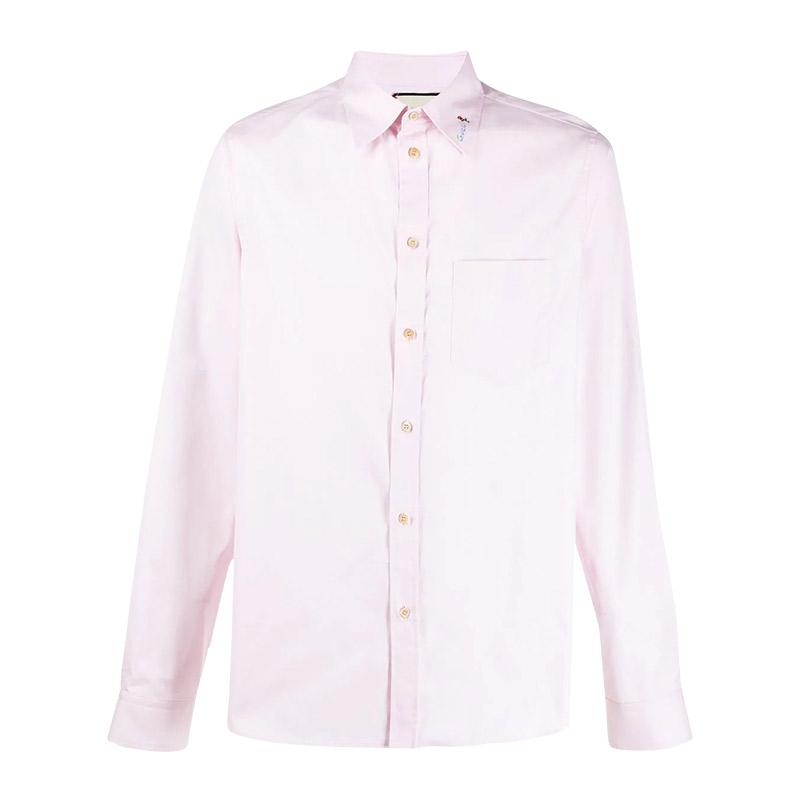 GUCCI/古馳 男士粉色休閑長袖襯衫 568356-ZACB2-5502