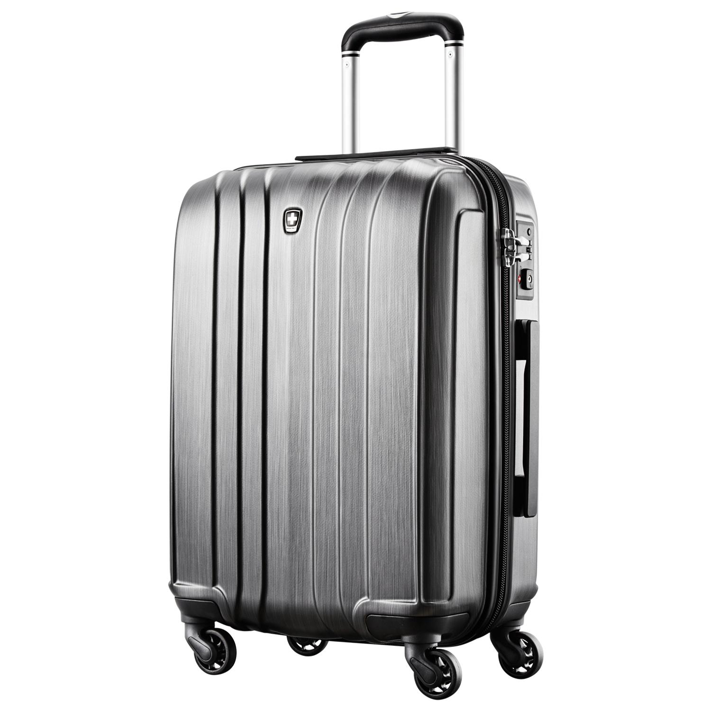 瑞动20拉杆箱万向轮行李箱轻旅行箱 拉丝玄铁灰 20寸-MT-5095