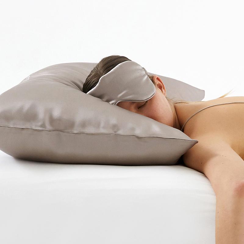 LaSuntin 真丝枕套双面纯色柔软舒适桑蚕丝 单人枕套单只