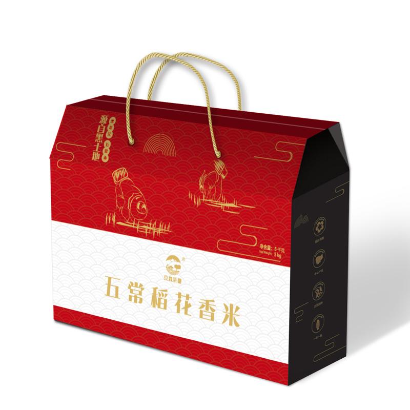 良田垦园 五常稻花香大米礼盒 5kg