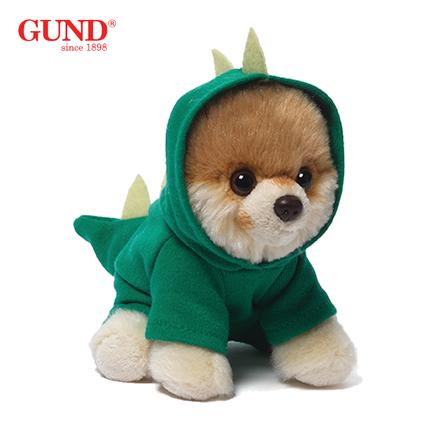 GUND仿真狗狗BOO玩偶邦尼兔毛绒可爱玩具狗公仔狗年吉祥物礼物-22cm恐龙装
