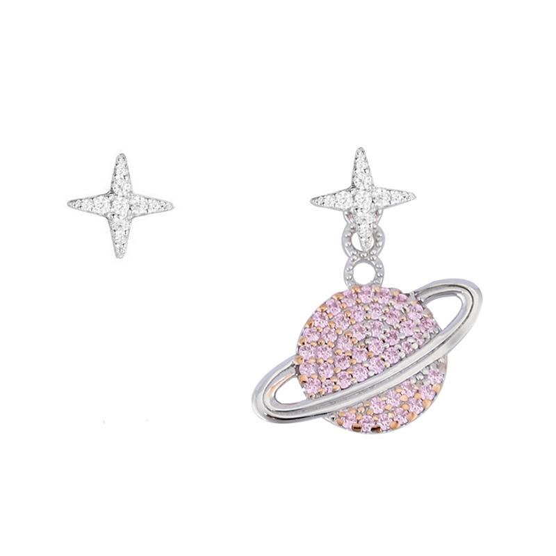APM Monaco粉色星球耳环女 设计感耳钉 百搭耳坠女气质新 AE10559XORW