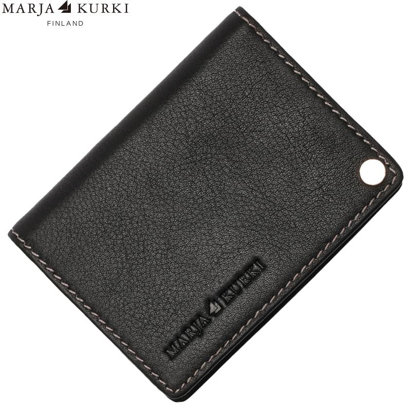MarjaKurki瑪麗亞.古琦 黑色優質進口軟牛皮男女通用款卡夾 7U201799