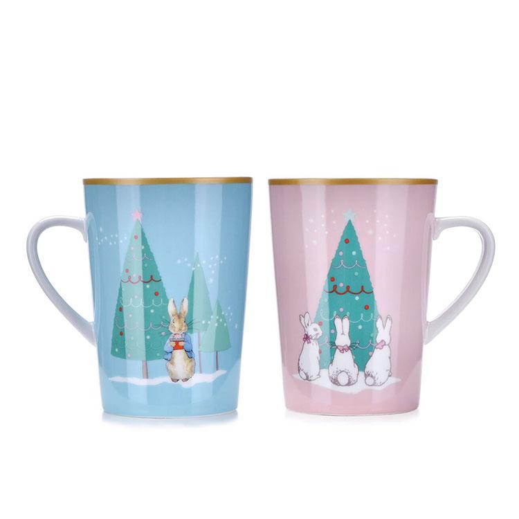 比得兔粉色恋人陶瓷对杯PR-T839