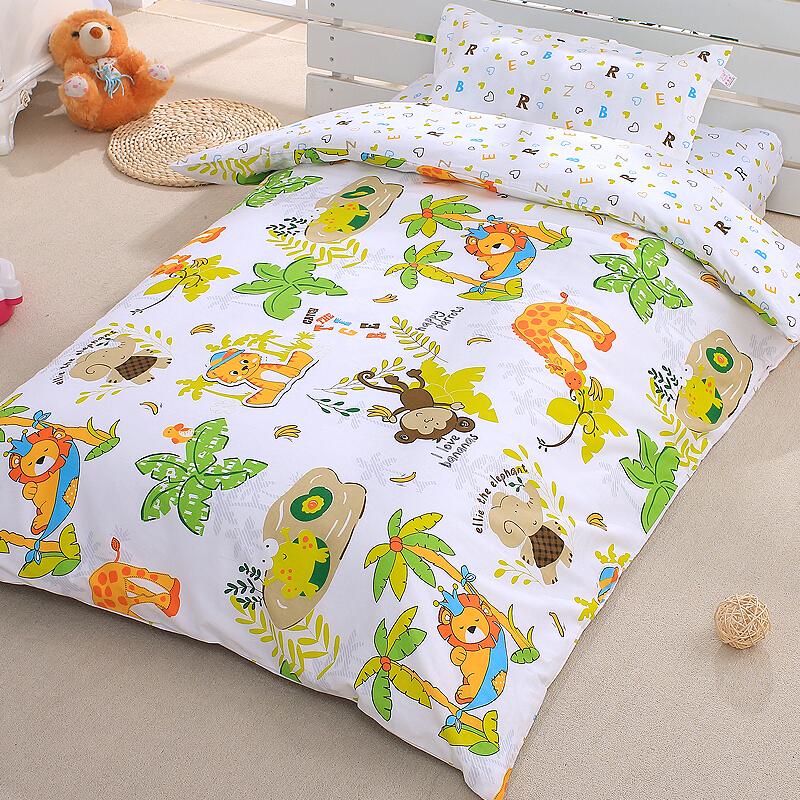 象宝宝(elepbaby)床品四件套婴儿床上用品被套被芯枕套可拆洗被子枕头套件棉品(动物王国)