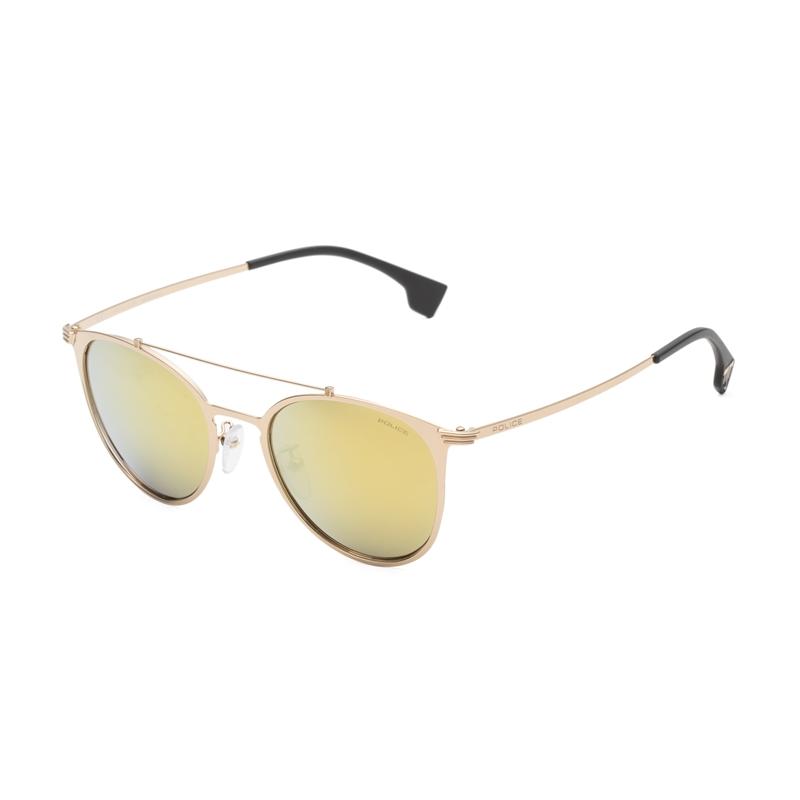 意大利POLICE内马尔纪念款墨镜圆形镜框男女渐变太阳眼镜SPL156V