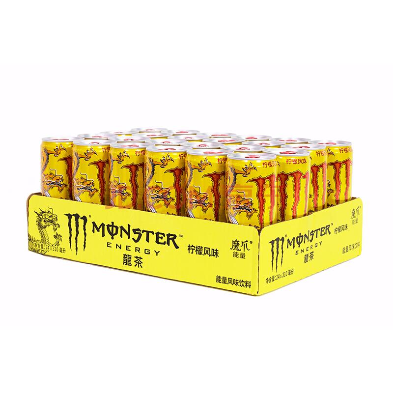 魔爪龍茶柠檬风味能量饮料 310ml*24罐 可口可乐公司出品 新老包装随机发货,可口可乐(Coca-Cola)