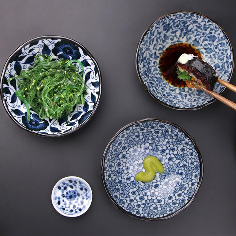 MinoYaki 美浓烧 日本进口 青花瓷系列陶瓷餐具盘子味碟单个、餐具套装