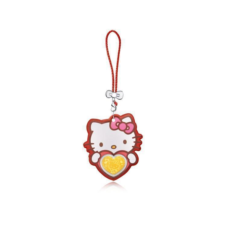 臻选周大福Hello Kitty挂坠利是金黄金金币R19957
