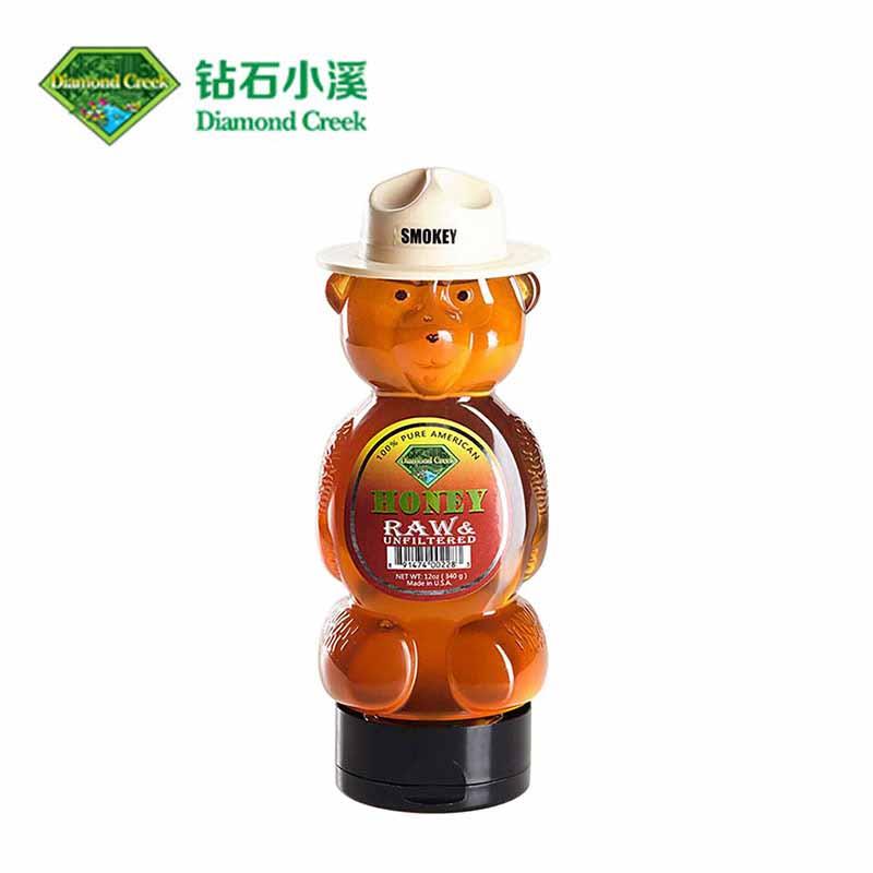 钻石小溪斯摩基熊蜂蜜 美国原装进口340g 三叶草蜂蜜