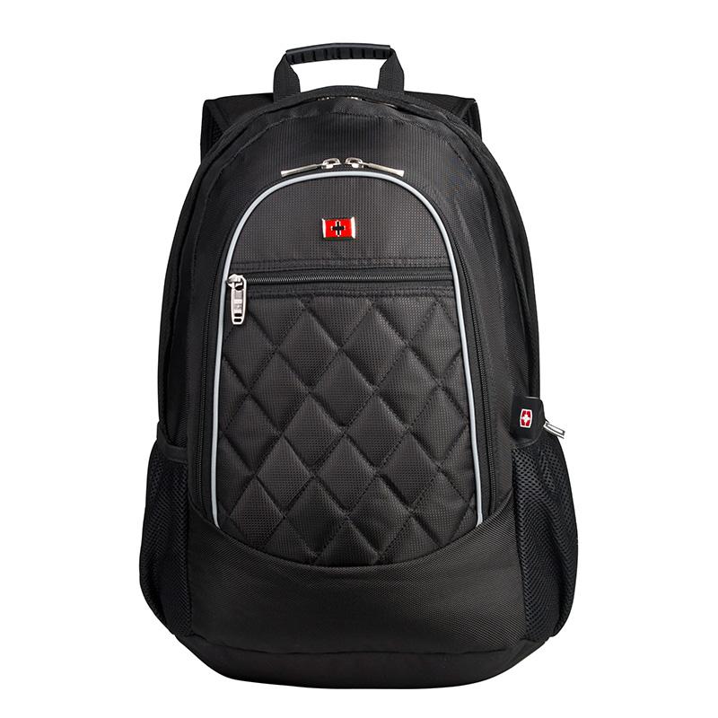 维士十字 双肩电脑背包 可容纳15寸电脑300862 黑色
