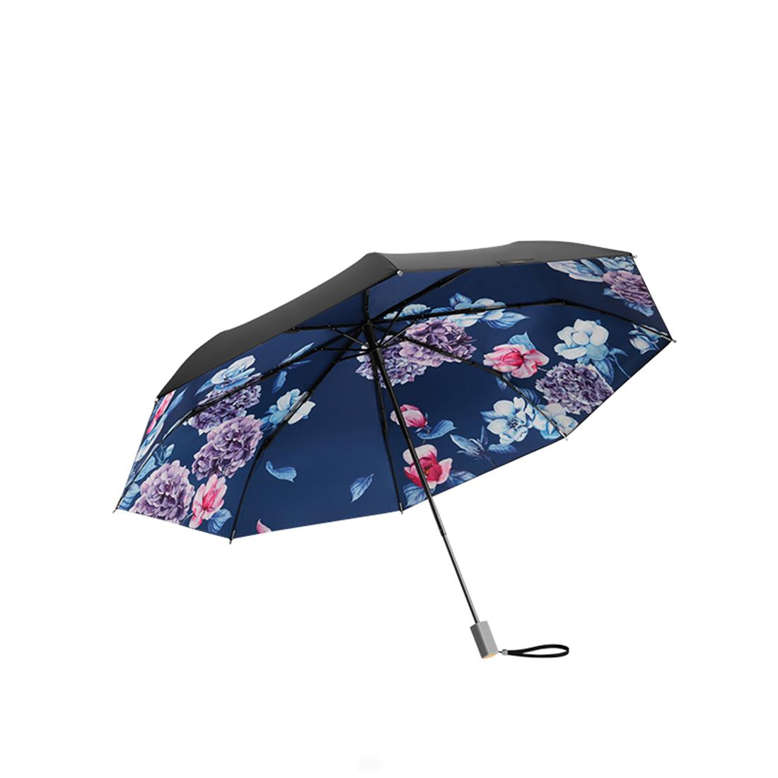 蕉下芳华双层小黑伞女防紫外线防晒遮阳太阳伞晴雨伞折叠