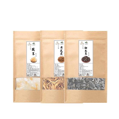 重庆黔江山珍干货400g(银耳、黄花菜、细木耳)
