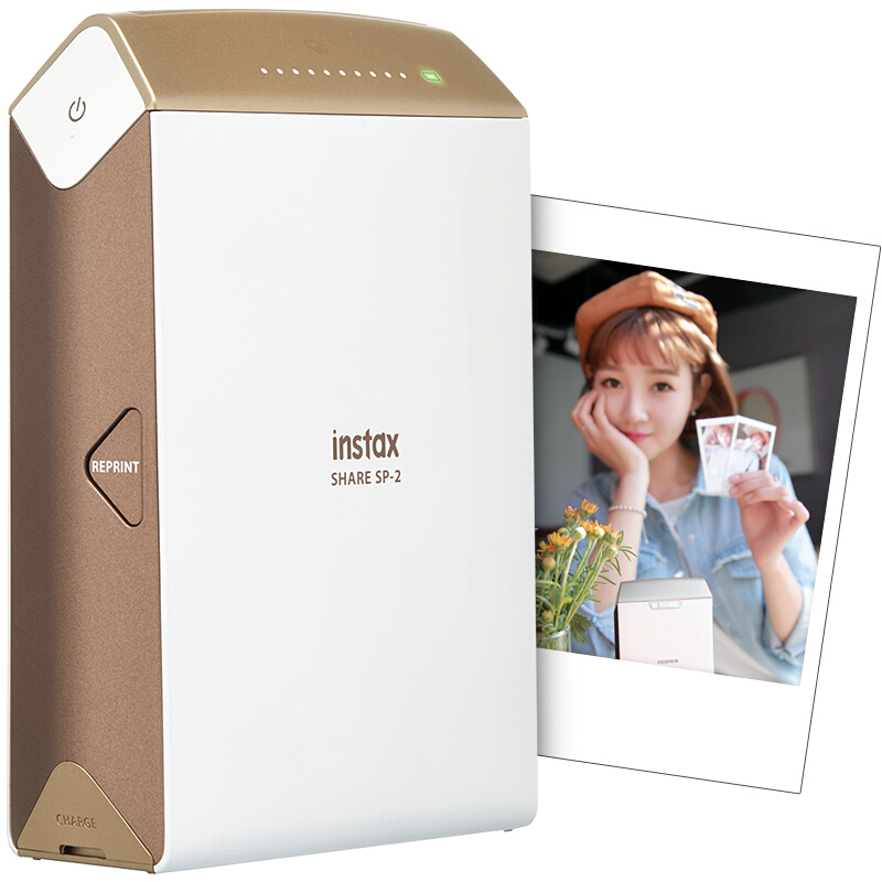 富士instaxSHARE SP-2 一次成像 照片打印机 手机照片打印机 口袋便携式家用相片打印机