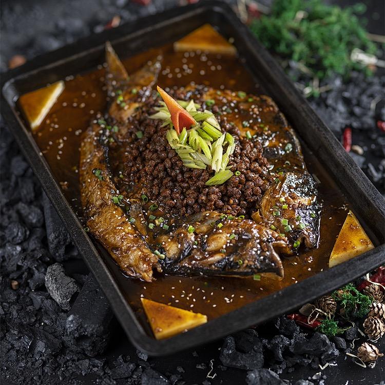 信農宜食豆豉烤魚*2盒;1kg/盒*2 即食烤魚