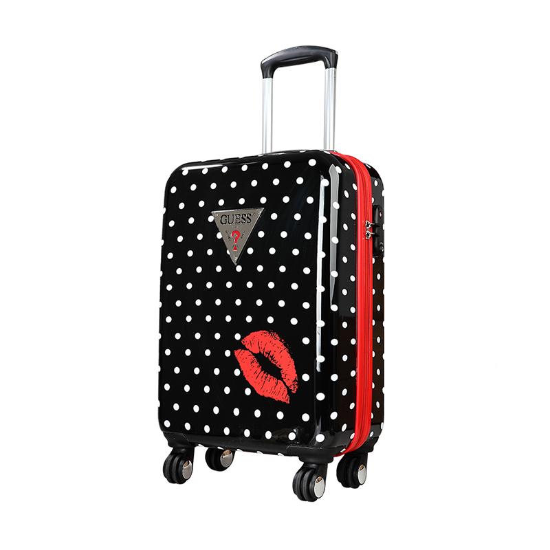 GUESS盖尔斯红唇系列22英寸拉杆硬箱GSX1405P00159BK黑色红唇