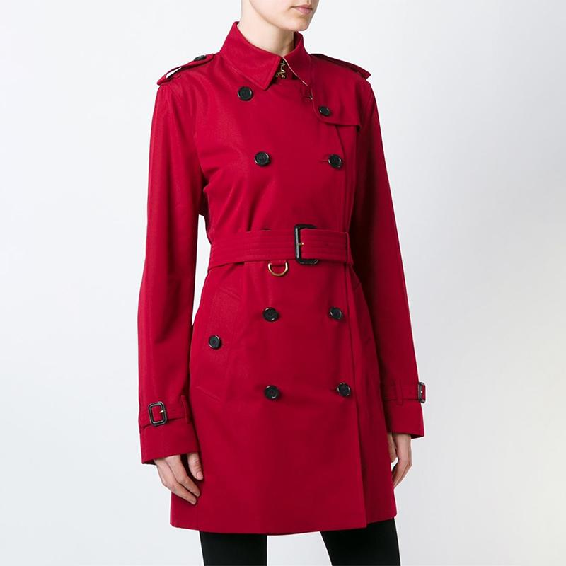 Burberry巴宝莉女装 女士双排扣翻领短款风衣外套 3997028-6