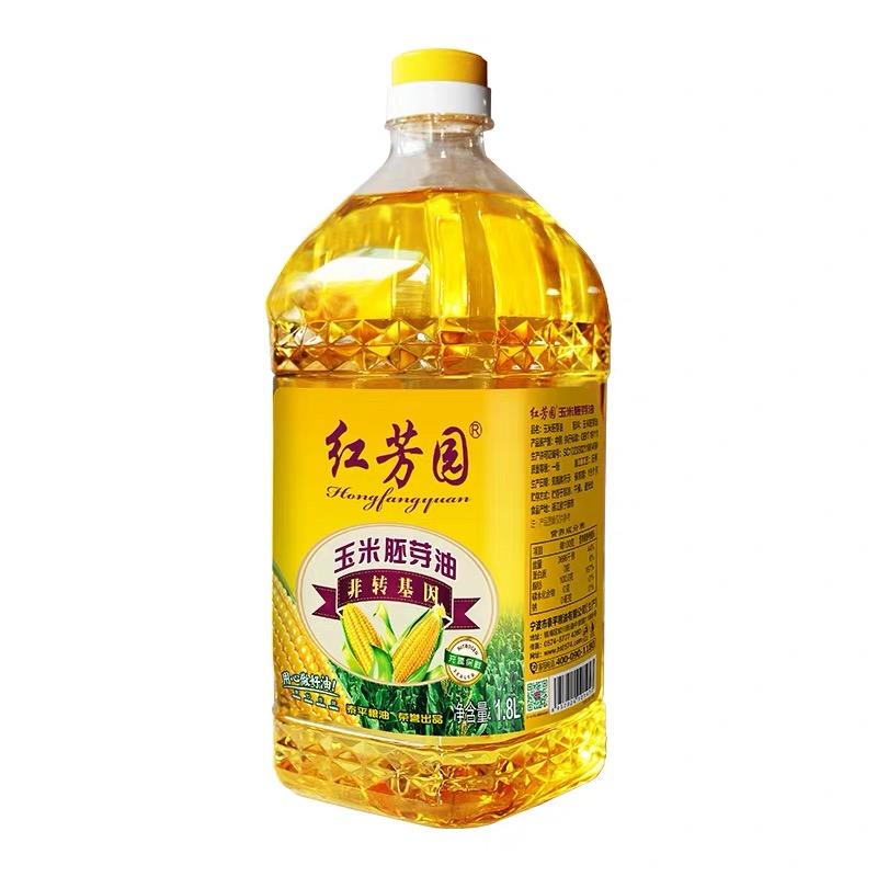 紅芳園非轉基因一級壓榨玉米胚芽油 凈含量:1.8L
