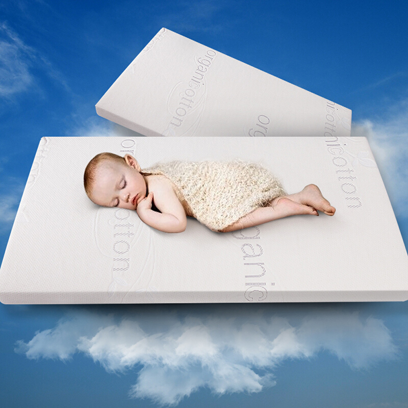 Sleep Science美國睡眠科優質記憶棉嬰兒床墊寶寶偏硬床墊環保無螨遠離甲醛保障頸椎成長A類 有機棉 56*100*5CM
