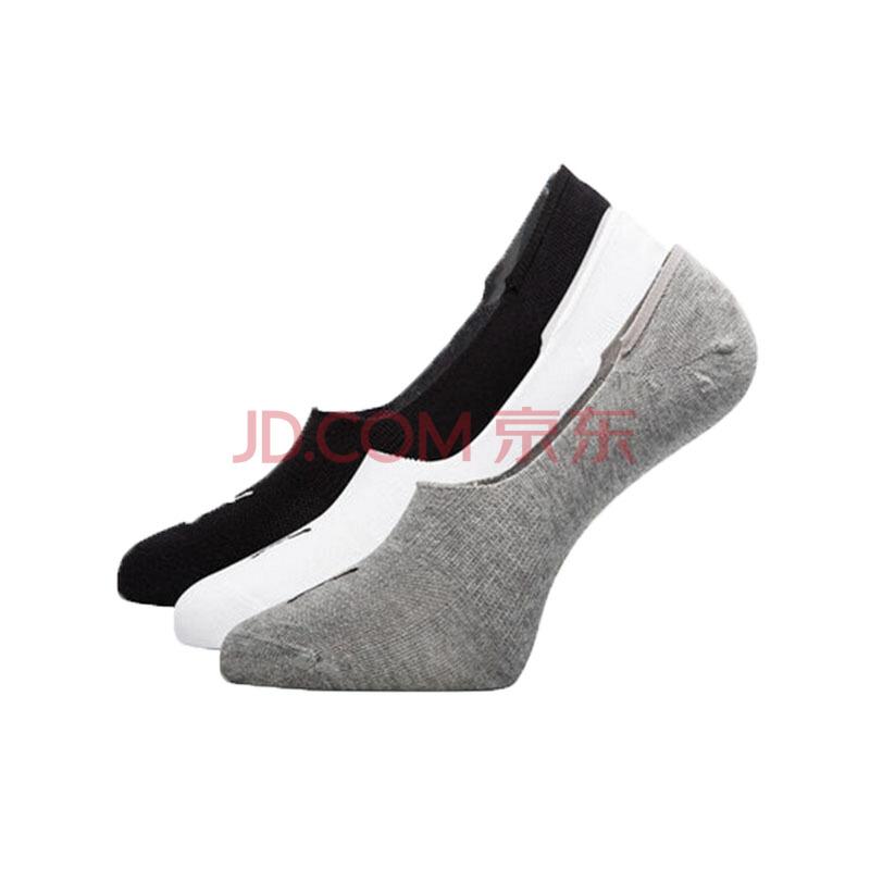 彪马 PUMA 男女 船袜(三对装)白色-黑色 39-42码 运动短袜 袜子 907701 03,彪马(PUMA)