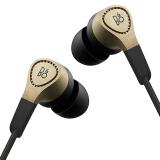 B&O beoplay H3 立体声入耳式耳机耳麦 运动耳机 游戏耳机 丹麦bo有线耳机线控通话耳机 香槟金色,B&O