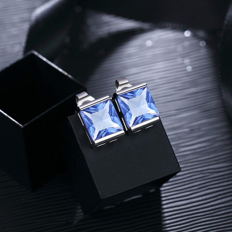 【美国】MYFD S925银耳钉女款蓝色守候欧美时尚纯银耳钉MYE1721