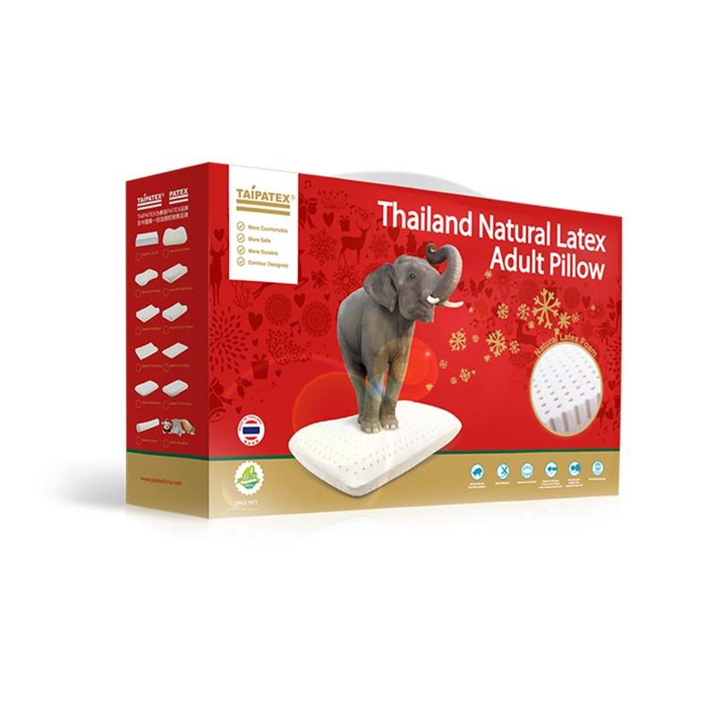 """泰国原装进口TAIPATEX天然乳胶""""轻薄呼吸枕 60*38*7/9 cm"""