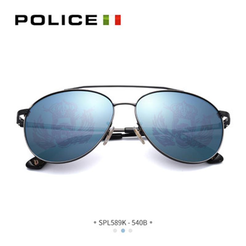 意大利POLICE眼镜新款太阳眼镜女驾驶镜蛤蟆镜眼镜墨镜男SPL589K