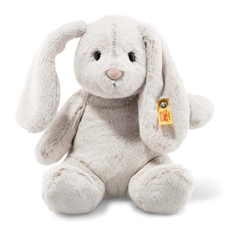 德国Steiff毛绒玩具Hoppie玩具兔浅灰色 28cm 4001505080470