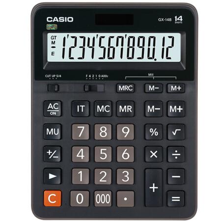 卡西欧(CASIO)GX-14B 商务计算器 超大型机 黑色 GX-14S升级款