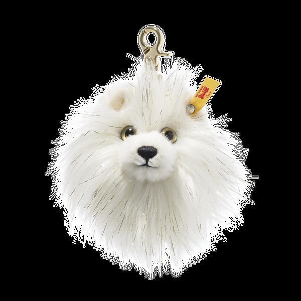 Steiff 史戴芙 挂件钥匙链PomPom绒球 毛绒玩具 白色 10cm 4001505039577