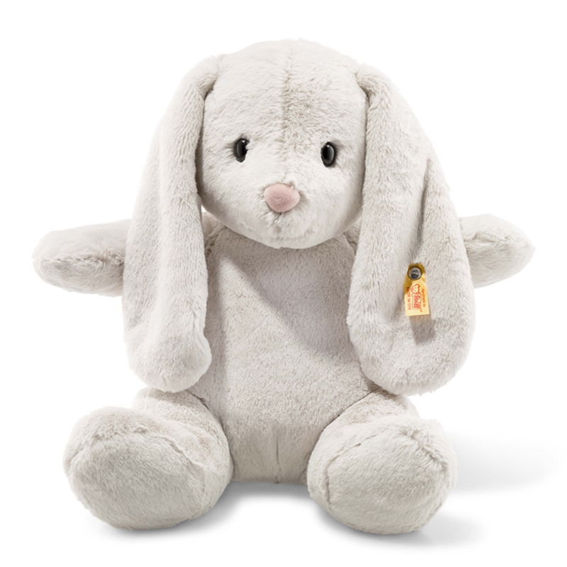 德国Steiff毛绒玩具Hoppie玩具兔浅灰色 38cm 4001505080487