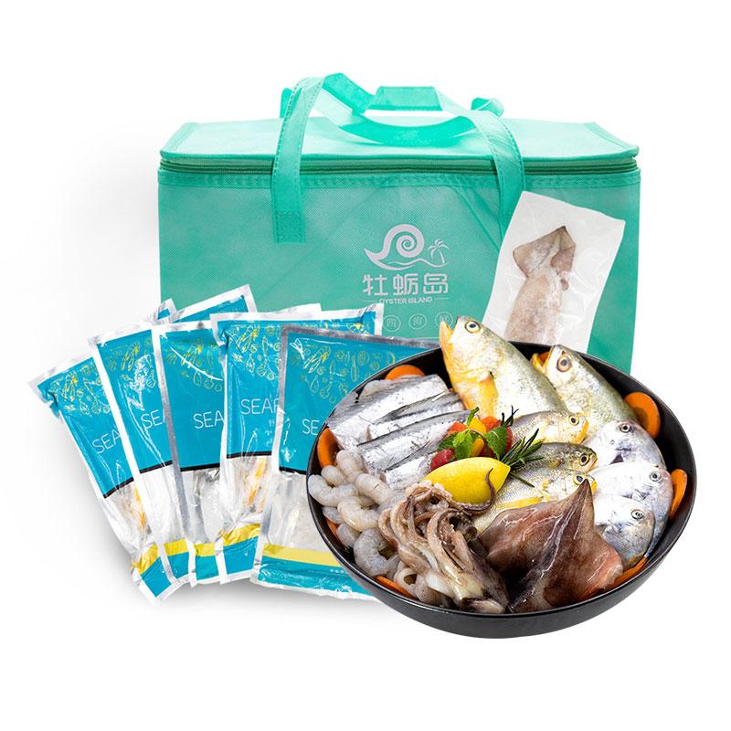 牡蠣島 呂四海鮮 東海野生海鮮大禮盒1988型組合套餐