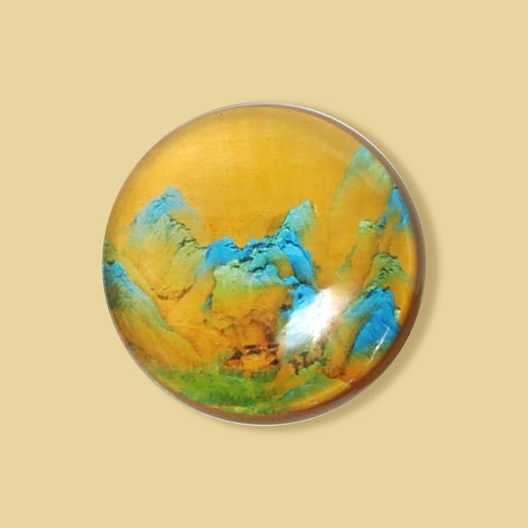 宮廷紋飾冰箱貼-千里江山紋飾