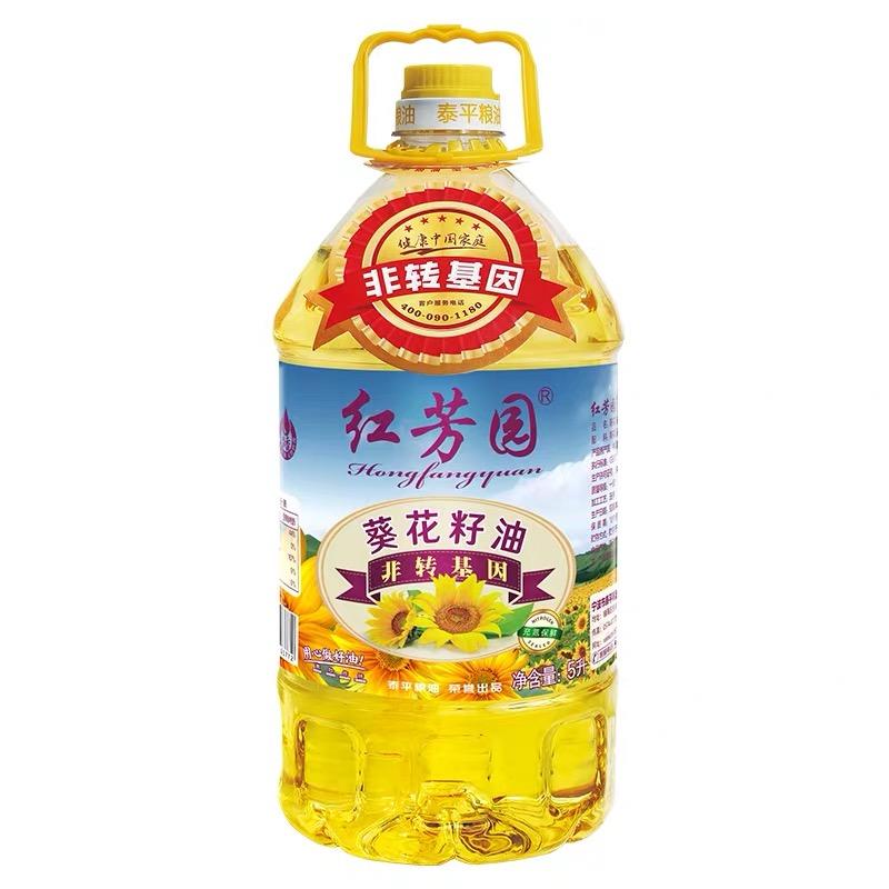 紅芳園葵花籽油 非轉基因食用油 凈含量:5L