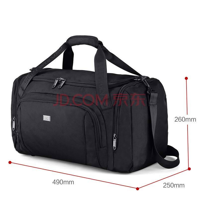 七匹狼 旅行包男女休闲运动行李包旅游包旅行袋多功能大容量手提健身包 黑色B0102762-101,七匹狼(SEPTWOLVES)