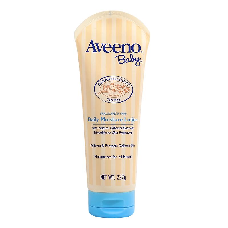 Aveeno 艾惟诺婴儿润肤乳儿童面霜身体乳宝宝乳液润肤露婴儿油天然燕麦每日倍护(无香型)227g