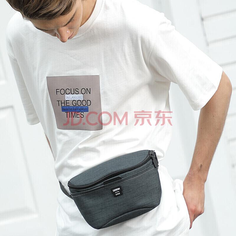 乐上 LEXON 运动腰包多功能跑步胸包手机包男女健身户外休闲手机包小腰包2516 绿色,乐上(LEXON)
